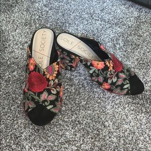 Sole society embroidered heels!